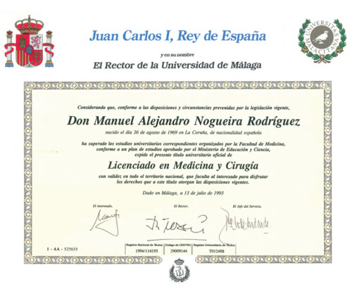 dr alejandro nogueira degree general practitioner